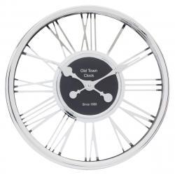 DekorStyle Nástěnné hodiny Chrome stříbrné