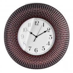 DekorStyle Nástěnné hodiny Easton hnědé