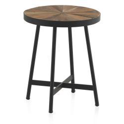 Odkládací stolek s černou železnou konstrukcí Geese Sunrays, ⌀ 40 cm