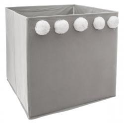 DekorStyle Textilní koš na hračky Pompons Grey
