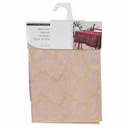 DekorStyle Ubrus Pinie 150x40 cm růžovo-zlatý