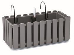 PlasticFuture Závěsný truhlík BOARDEE FENCYCASE W šedý