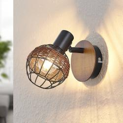 Lindby Lindby Nermina ratan reflektor, klec, jeden zdroj