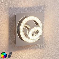 Lindby LED nástěnné svítidlo Mikkel, RGBW 17 × 17cm
