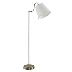 Lindby Lindby Christer stojací lampa, mosaz krémová 150cm