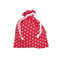 PACK-A-BAG Dárkové sáčky hvězdy 14 x 18 cm set 6 ks - červená