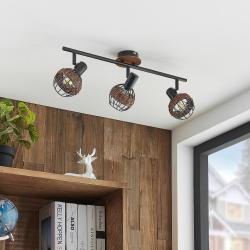 Lindby Lindby Nermina ratan reflektor, klec, tři zdroje