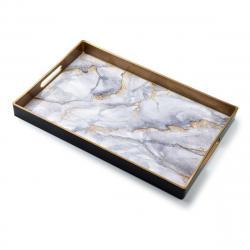 DekorStyle Dekorativní podnos Blanche White Marble