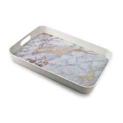 DekorStyle Dekorativní podnos Marble 40x31 cm