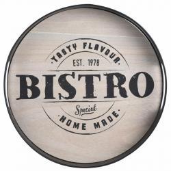DekorStyle Kulatý kovový podnos Bistro - Tasty