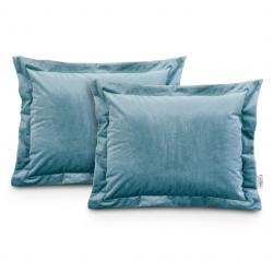 Povlaky na polštáře AmeliaHome Velvet Side Si světle modré
