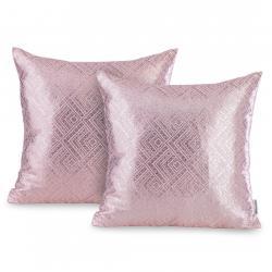 Sada dvou polštářů AmeliaHome Caspe pudrově růžová