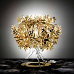 Slamp FIO14TAV0001O Fiorellina, zlatá stolní lampička, 1x28W, výška 34cm