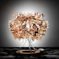 Slamp FIO14TAV0001RA Fiorellina, měděná stolní lampička, 1x28W, výška 34cm