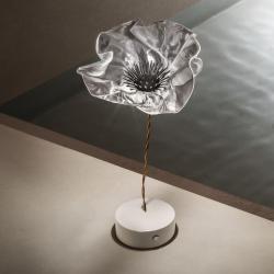 Slamp LAF97TAVB000LE000 Lefleur, stolní designová lampička na baterii, 1,3W LED 2700K, výška 26cm