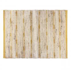 DekorStyle Dekorativní jutový koberec Yellow Stripe 60x90 cm