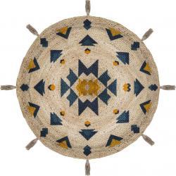 DekorStyle Dekorativní jutový kulatý koberec Hacienda 115 cm