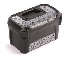 PlasticFuture Kufr na nářadí LINE IML 38x23,4x22,5 cm šedý/stříbrný
