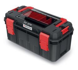 PlasticFuture Kufr na nářadí X BLOCK SOLID 55x28x26,4 cm černo-červený