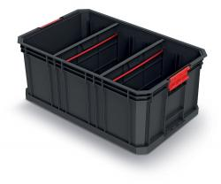 PlasticFuture Modulární přepravní box MODULAR SOLUTION 52x32,9x21 cm černý