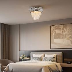 Lucande Lucande Miraia křišťálové stropní světlo zrcadlené