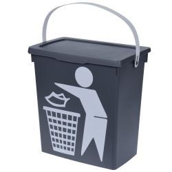 DekorStyle Odpadkový koš Bio 12L šedý