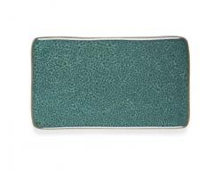 Servírovací tác Bitz zelená 22x13 cm