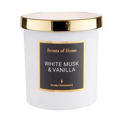 SCENTS OF HOME Vonná svíčka bílé pižmo a vanilka