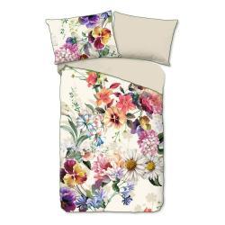 Povlečení na jednolůžko z organické bavlny Descanso Flower Garden,140x220cm