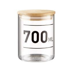 WOODLOCK Skleněná dóza s potiskem 700 ml