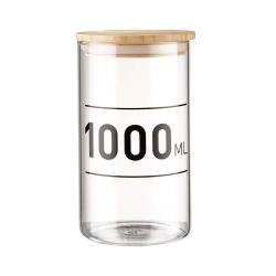 WOODLOCK Skleněná dóza s potiskem 1000 ml