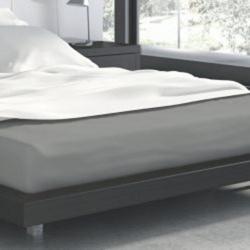 Faro Bavlněné prostěradlo Modern 05 - 160x200 cm šedé
