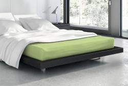 Faro Froté prostěradlo s gumou Vanille 90x200 cm zelené