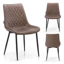 HOMEDE Designová židle Sharonti hnědá