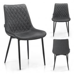 HOMEDE Designová židle Sharonti šedá