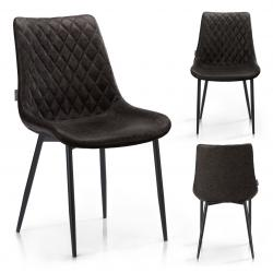 HOMEDE Designová židle Sharonti tmavě hnědá
