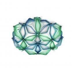 Slamp La Vie mini, modré designové svítidlo, 2x6W LED E14, prům. 36cm