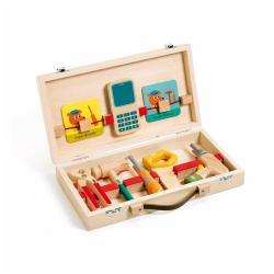 Kufřík s dřevěným nářadím Djeco
