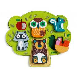 Vkládací puzzle Djeco Oski