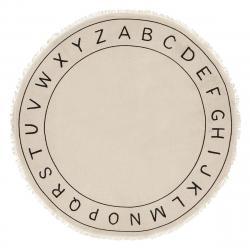 DekorStyle Dětský koberec Alphabet krémový