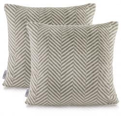 Povlaky na polštáře AmeliaHome Nancy šedé/bílé