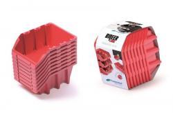 PlasticFuture Set úložných boxů 8ks Ziron 160x98x160 červený
