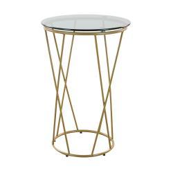 STROMBOLI Odkládací stolek kulatý - černá/zlatá