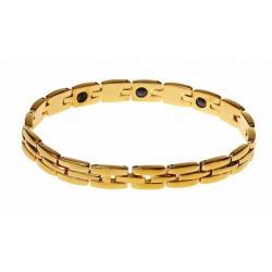 Modom Ocelový náramek s magnety, zlatá