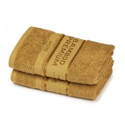 4Home Sada Bamboo Premium ručník svetlo hnedá, 50 x 100 cm, sada 2 ks