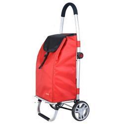 Taška nákupní na kolečkách CARRIE 98 x 48 x 36 cm, skládací, červená