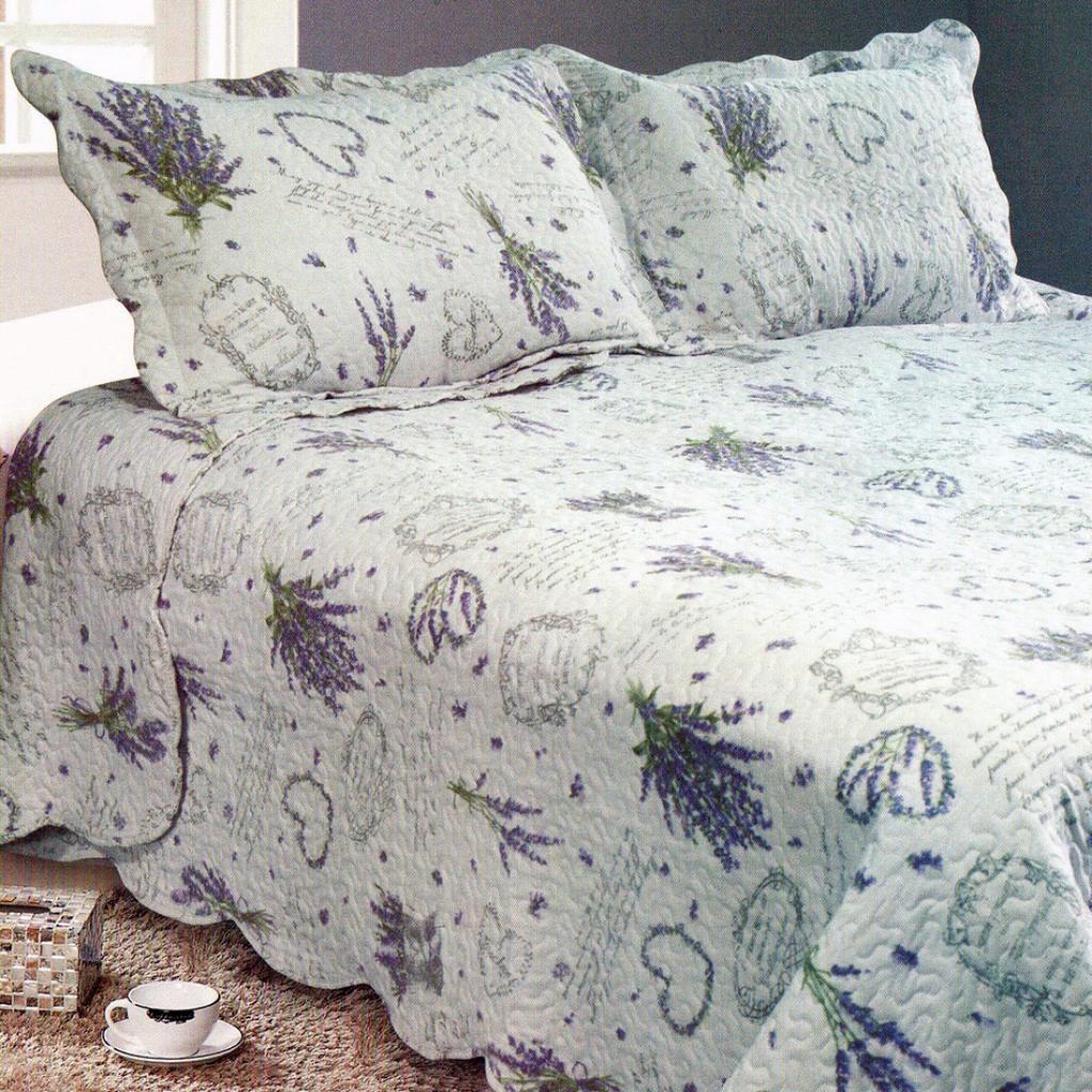 Produktové foto Přehoz na postel Levandule, 230 x 250 cm, 2x 50 x 70 cm