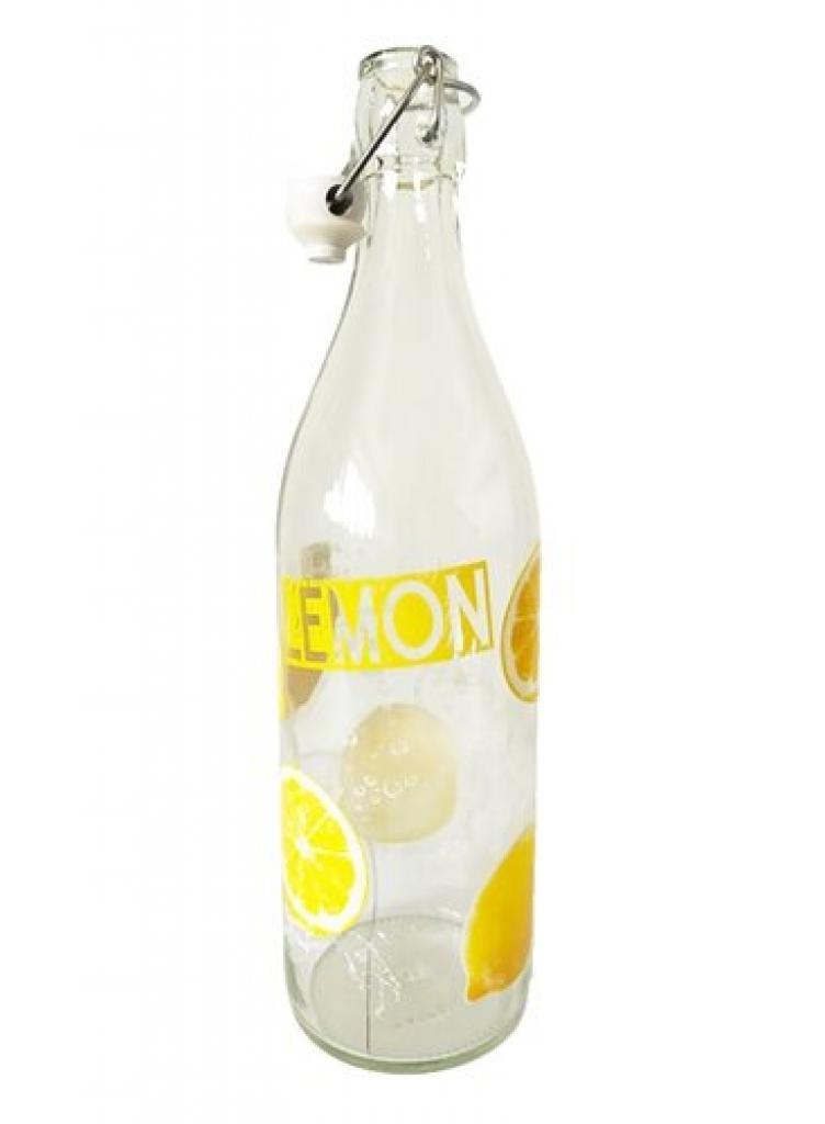 Produktové foto Mäser Skleněná láhev s clip uzávěrem Lemon, 1 l