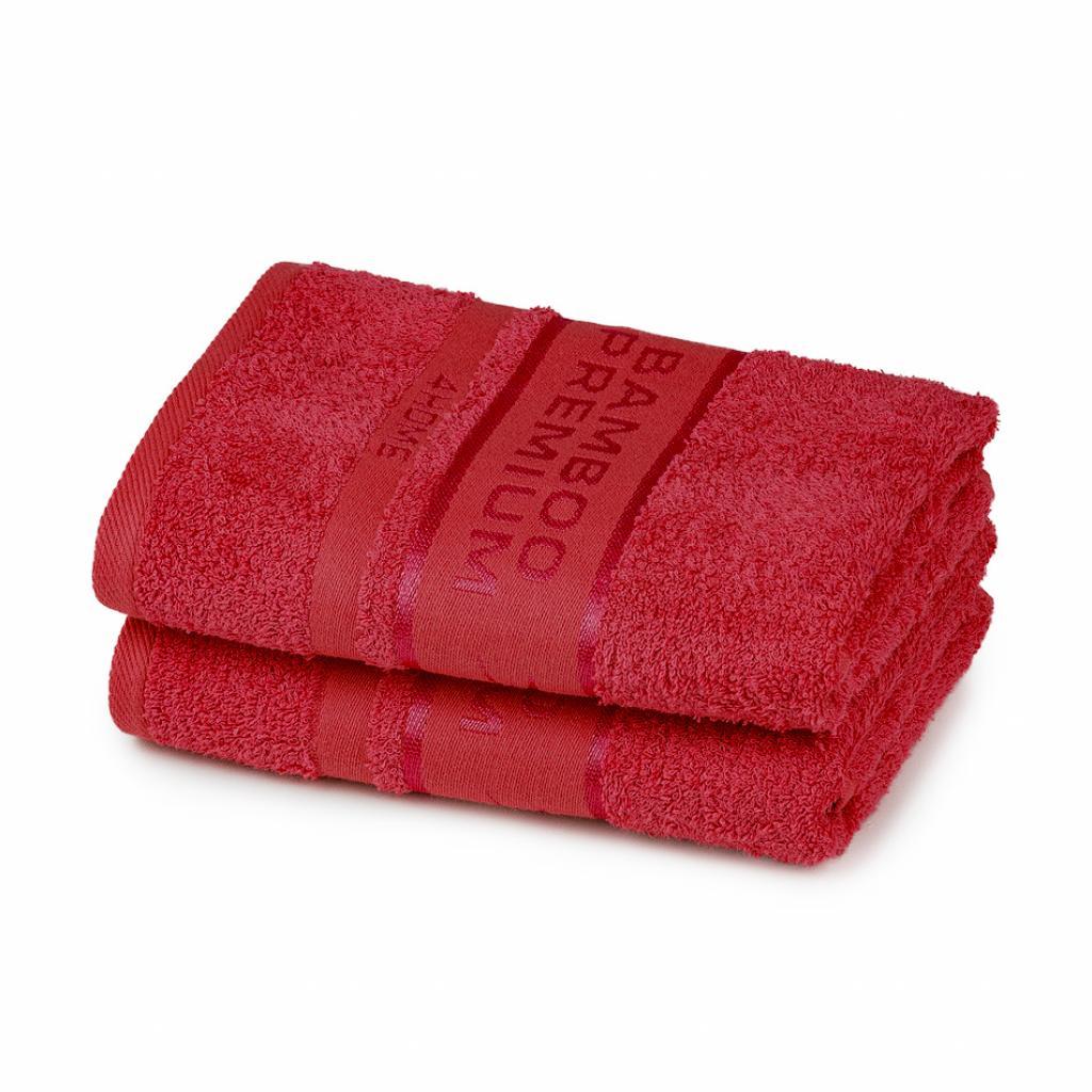 Produktové foto 4Home Bamboo Premium ručník červená, 50 x 100 cm, sada 2 ks