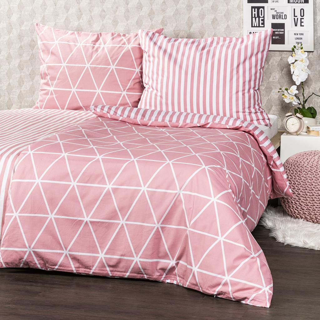 Produktové foto 4Home Bavlněné povlečení Galaxy růžová, 140 x 200 cm, 70 x 90 cm